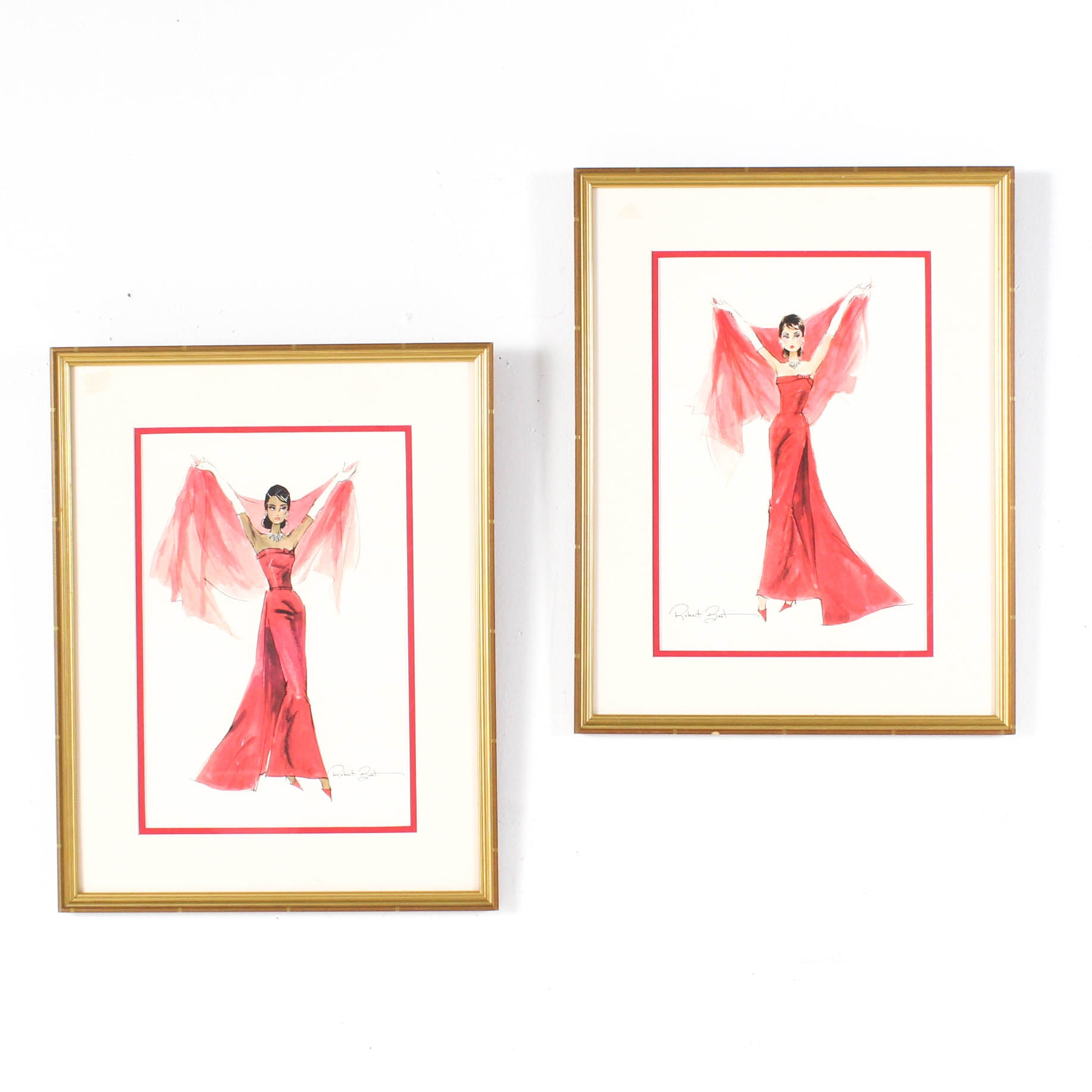 Offset Lithograph Fashion Prints after Robert Best