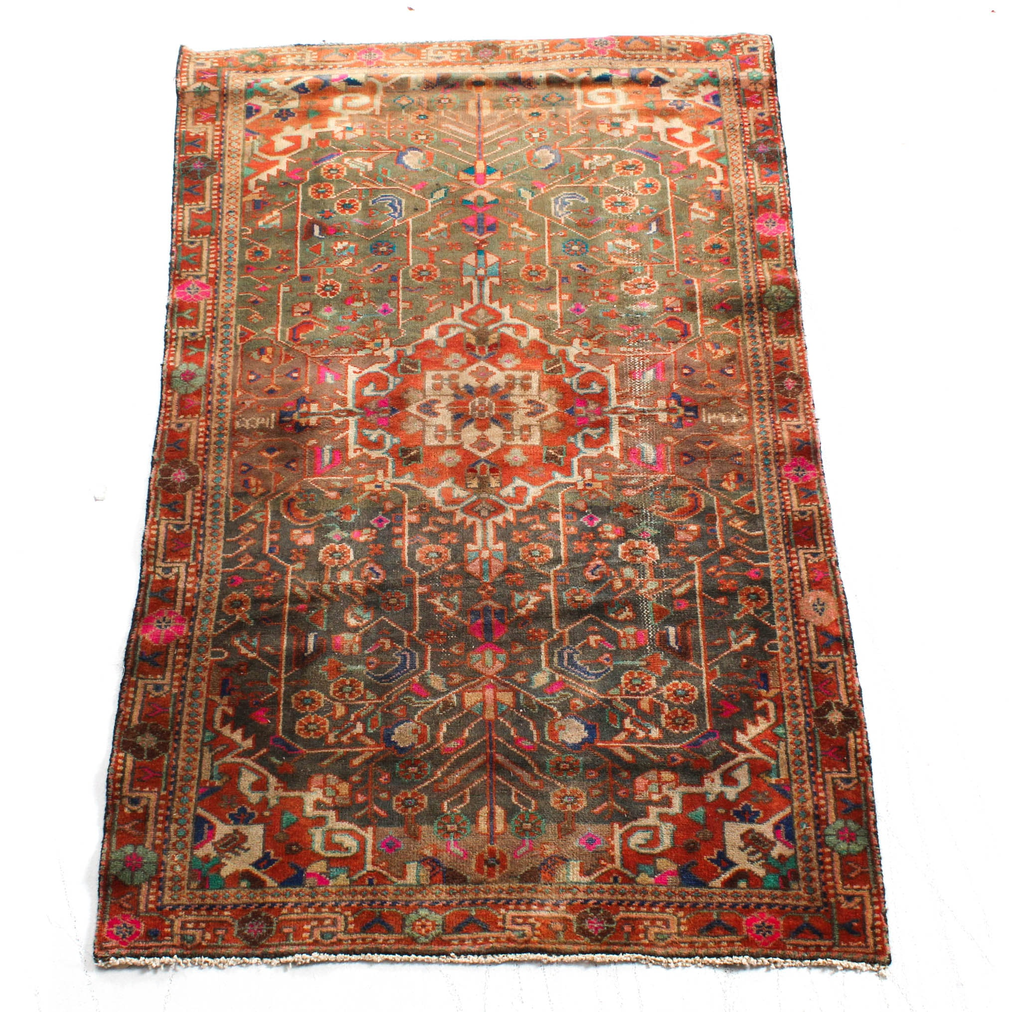 Hand-Knotted Persian Malayer Sarouk rug