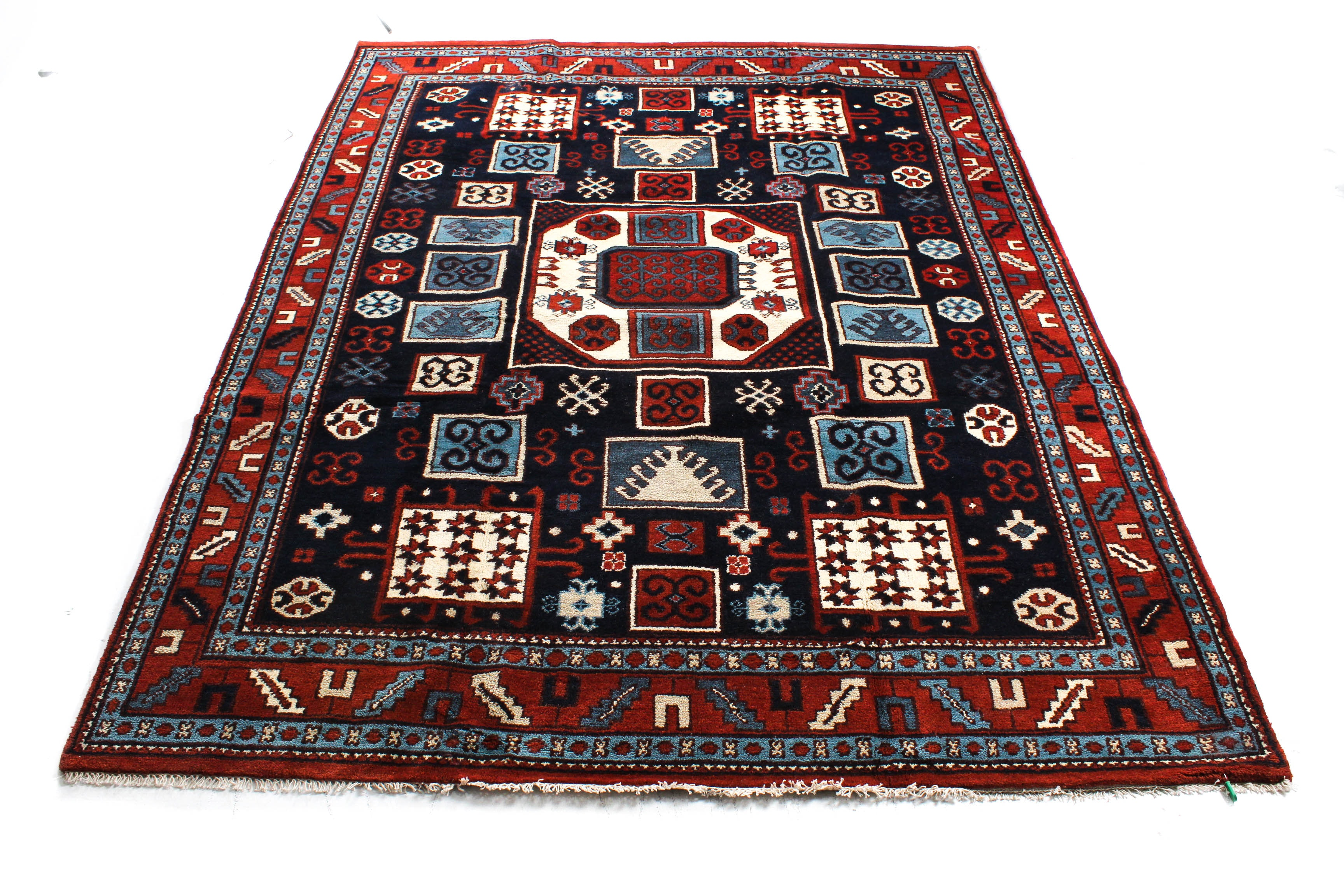 Hand-Knotted Indo-Caucasian Room Size Rug