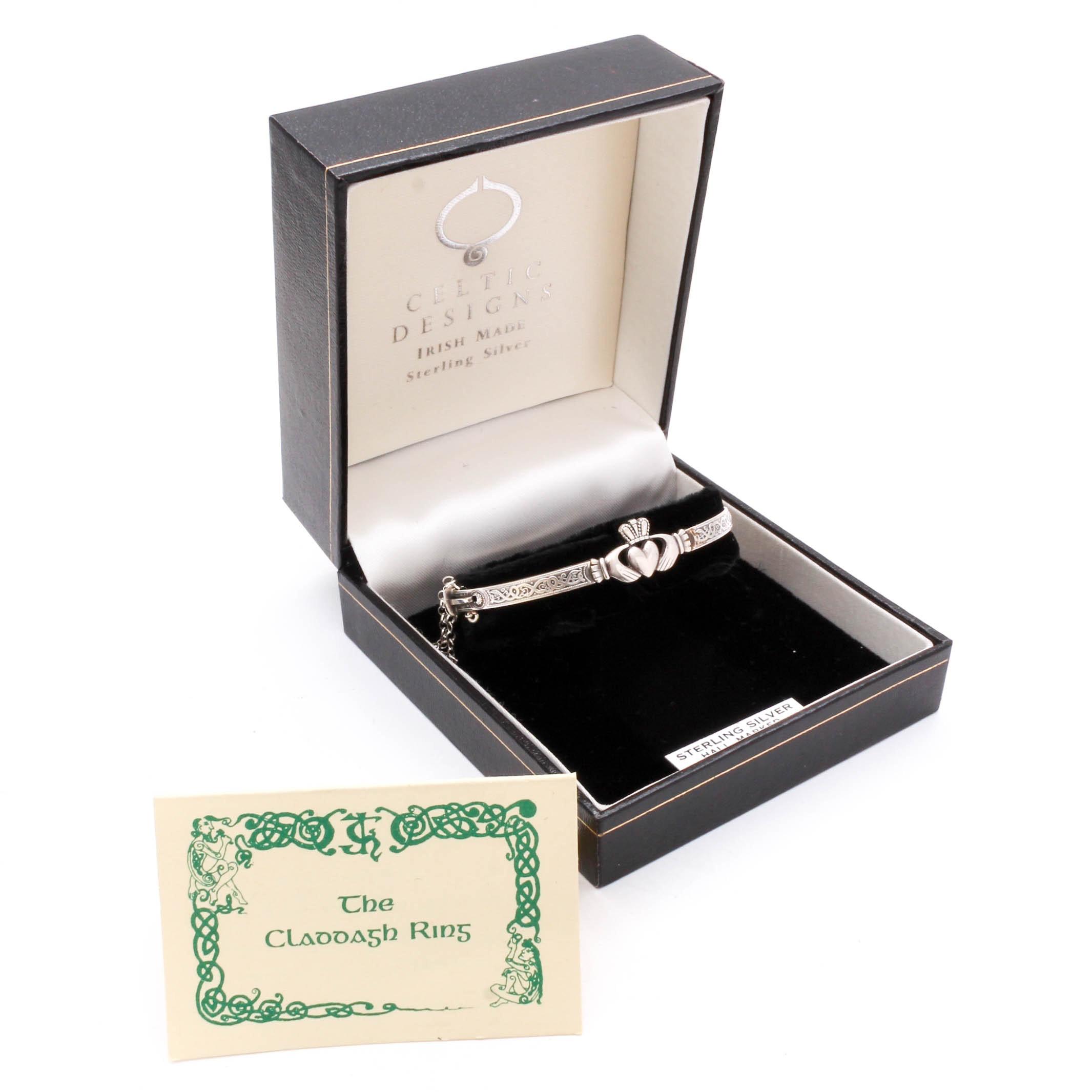 Claddagh Sterling Silver Bracelet