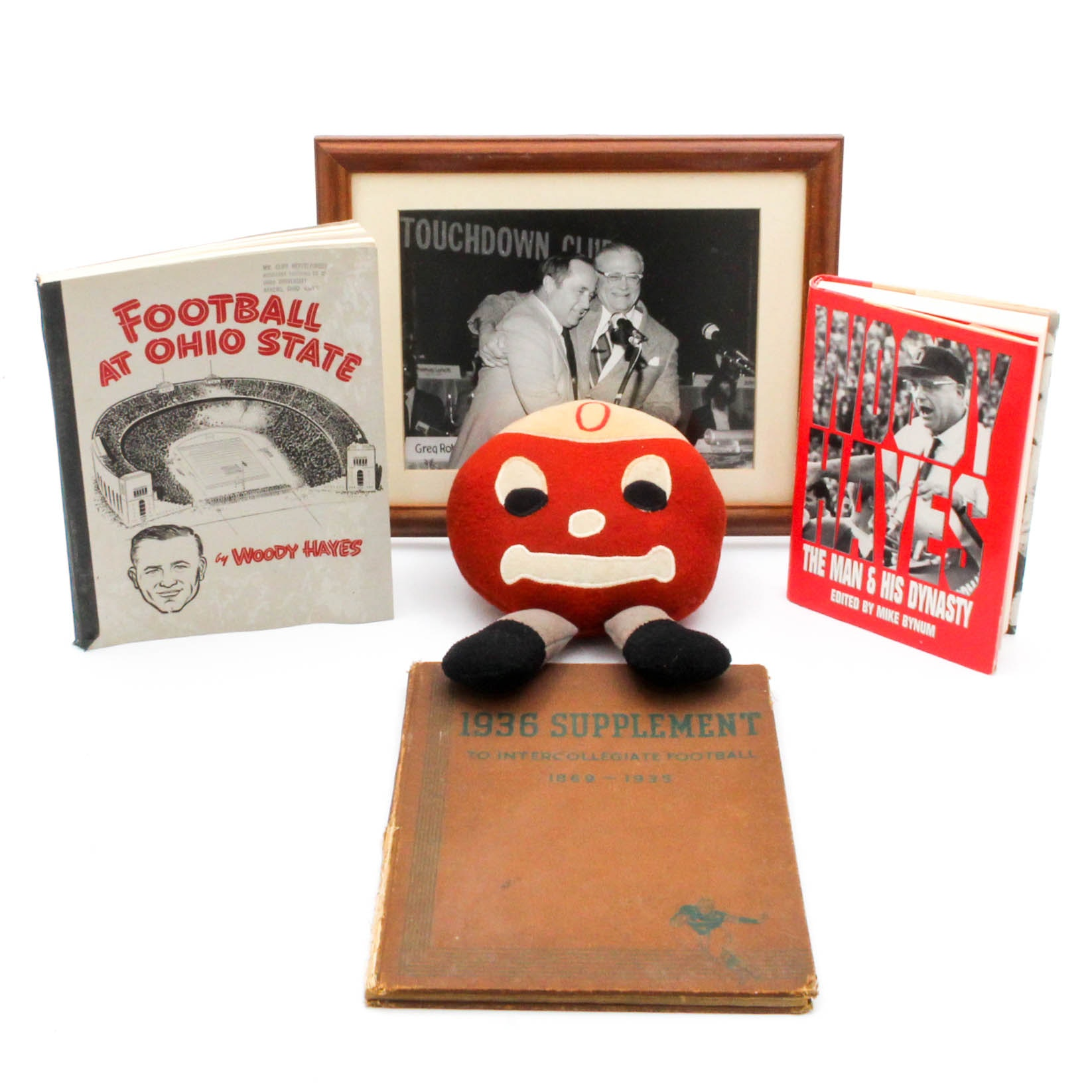 "Ohio State Football Memorabilia Featuring Hopalong Cassady ""Woody Hayes"" Book"