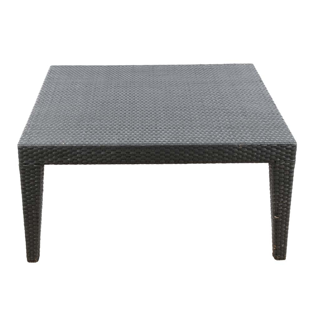 Mitchell Gold and Bob Williams Wicker Coffee Table