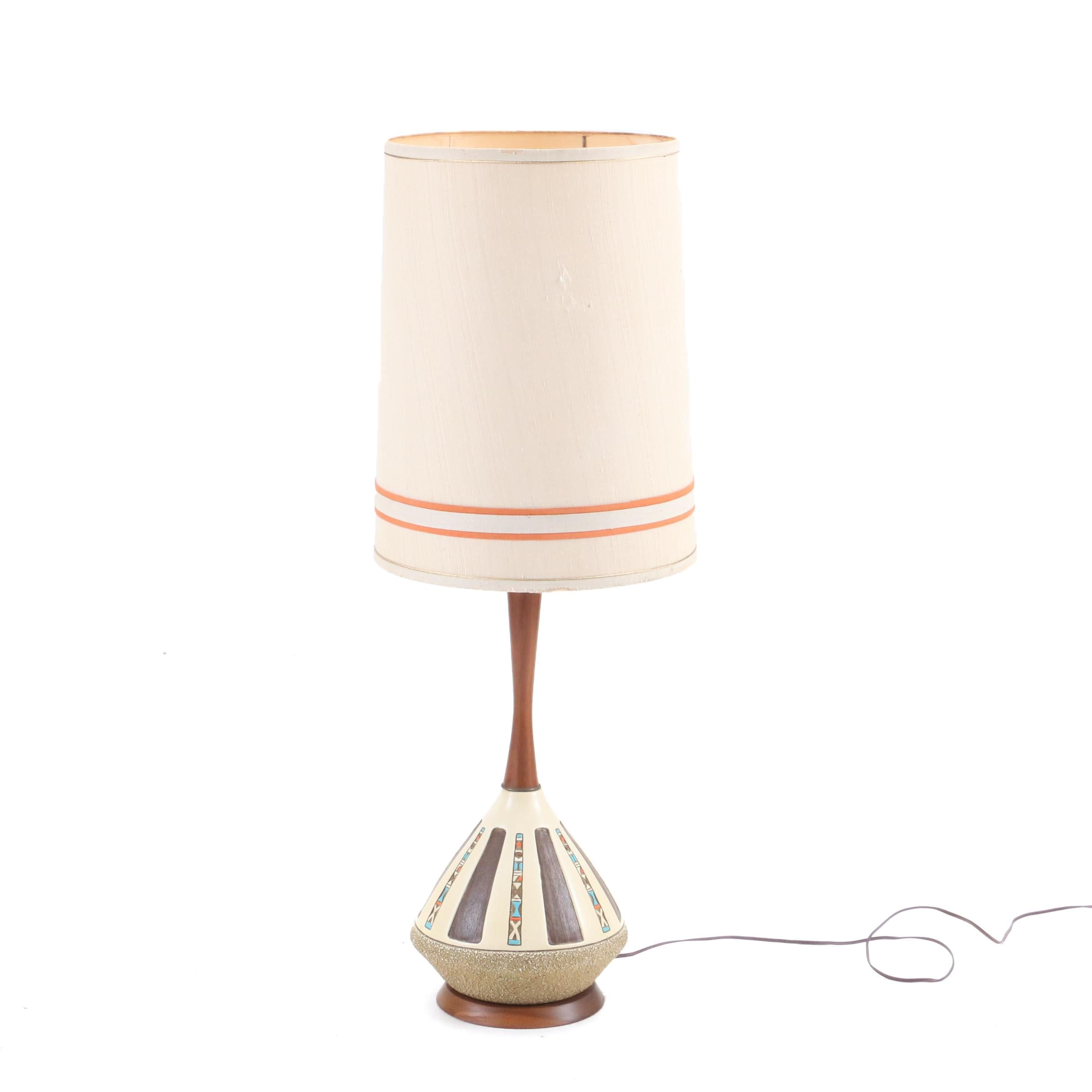 Mid Century Modern Table Lamp Attributed to Emil Bertolozzi