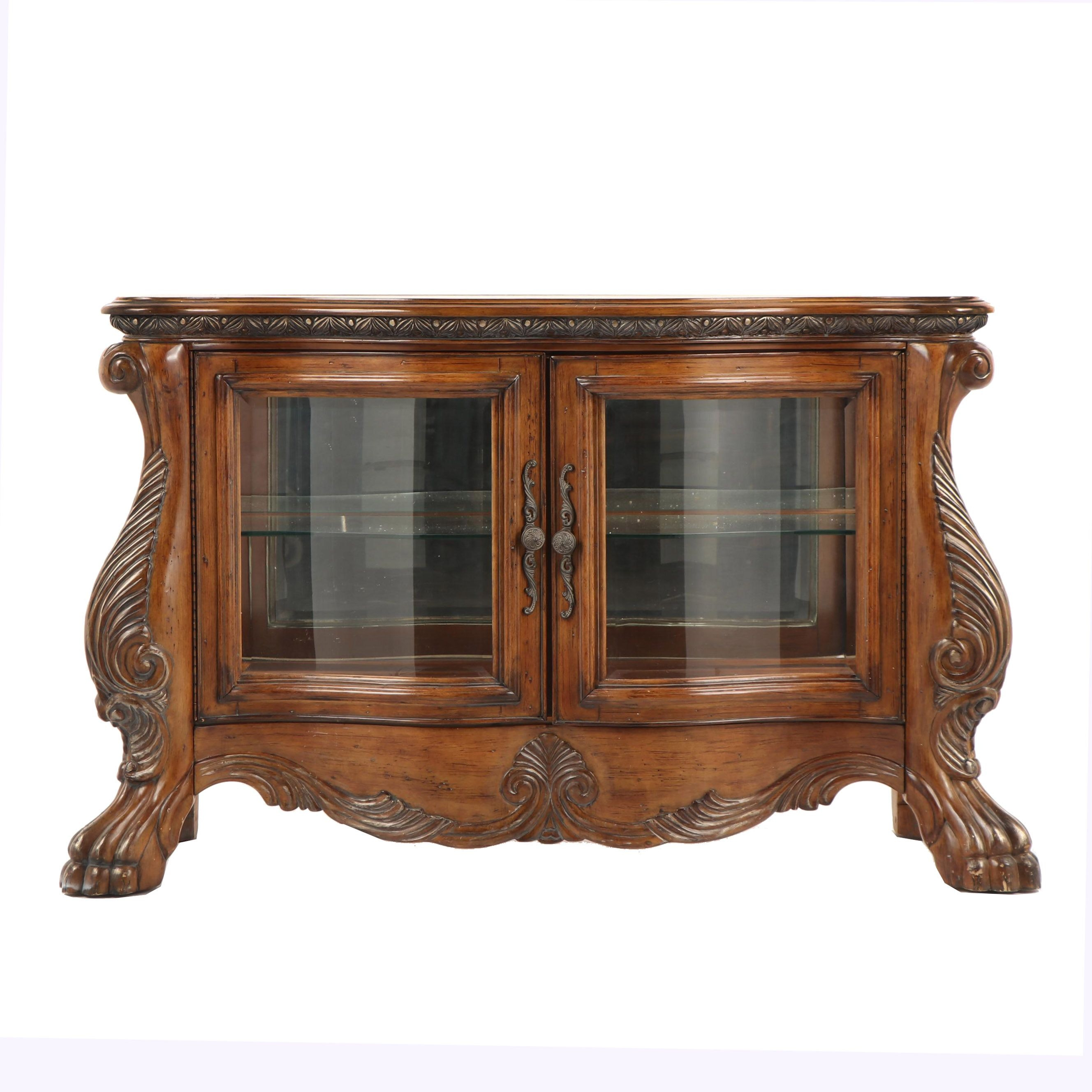 Renaissance Revival Style Side Display Cabinet, Late 20th Century