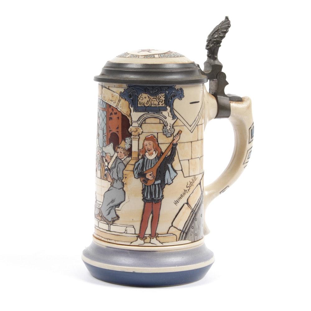Villeroy & Boch Mettlach Quarter-Liter Beer Stein