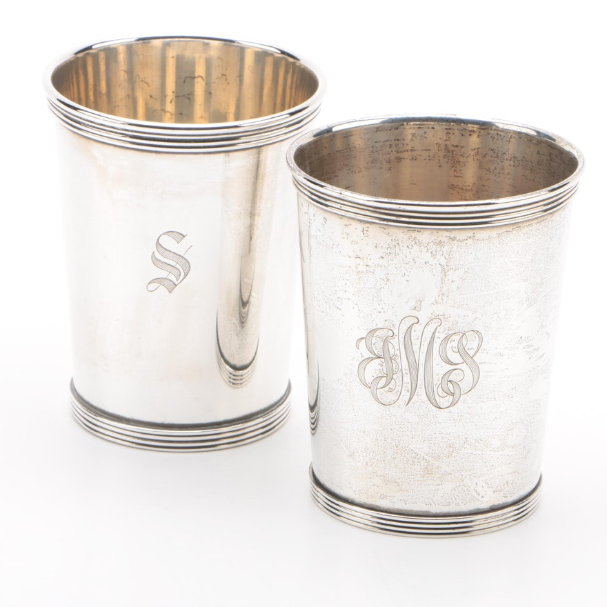 International Silver Co. and K. Brown Sterling Julep Cups, Mid-Century