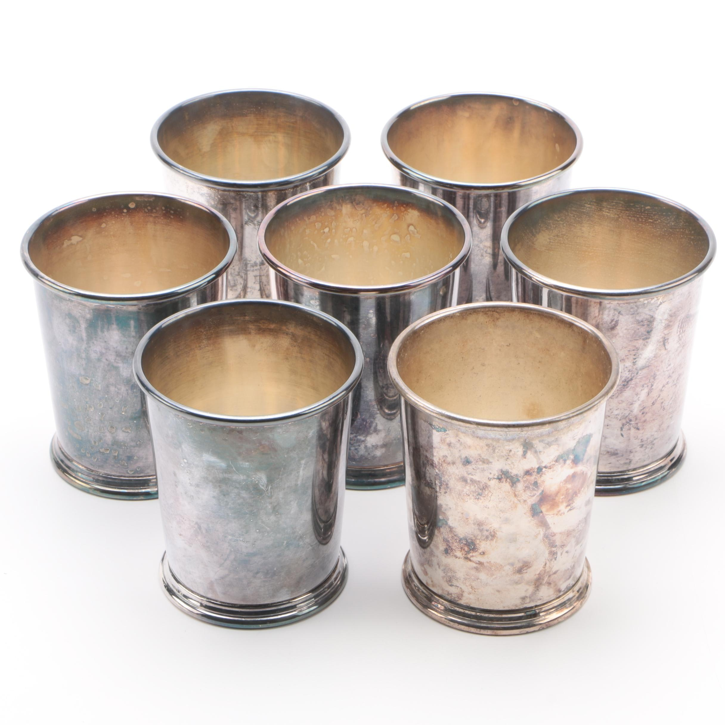 Art Silver Co. Silver-Plated Copper Julep Cups, Mid-Century