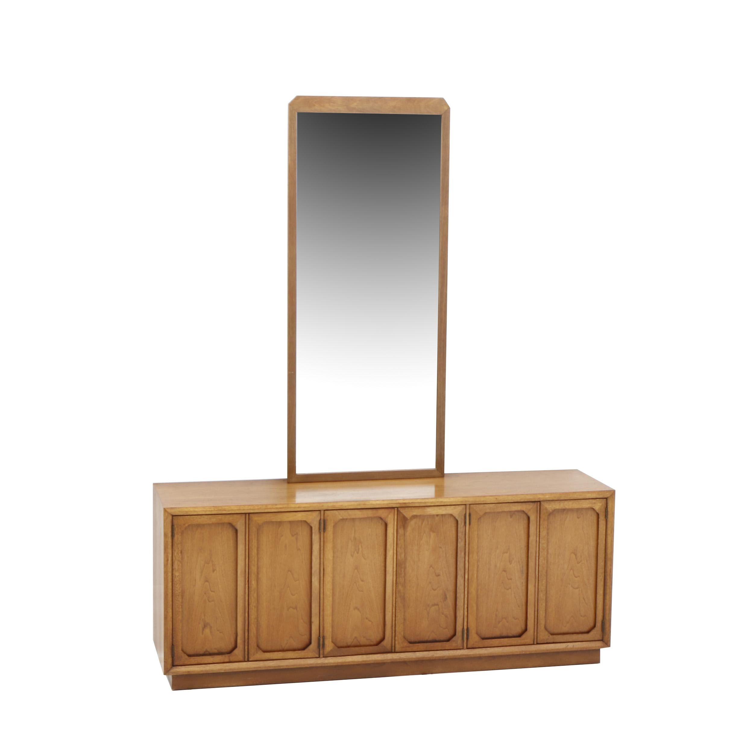 """Mid Century Style Broyhill Premier """"Facet"""" Collection Credenza in Walnut"""