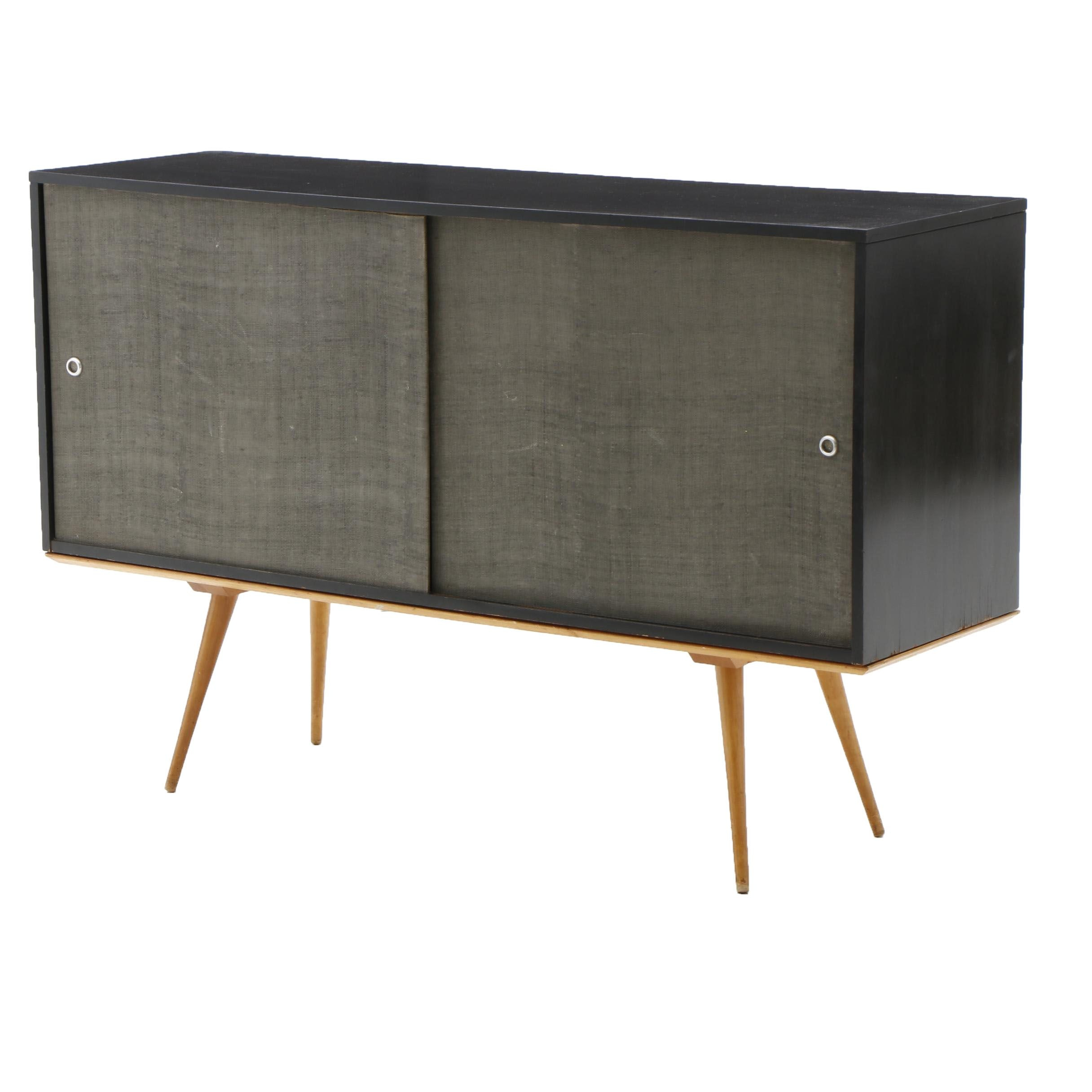 """Mid Century Paul McCobb """"Planner Group""""  Credenza on Bench/Table"""