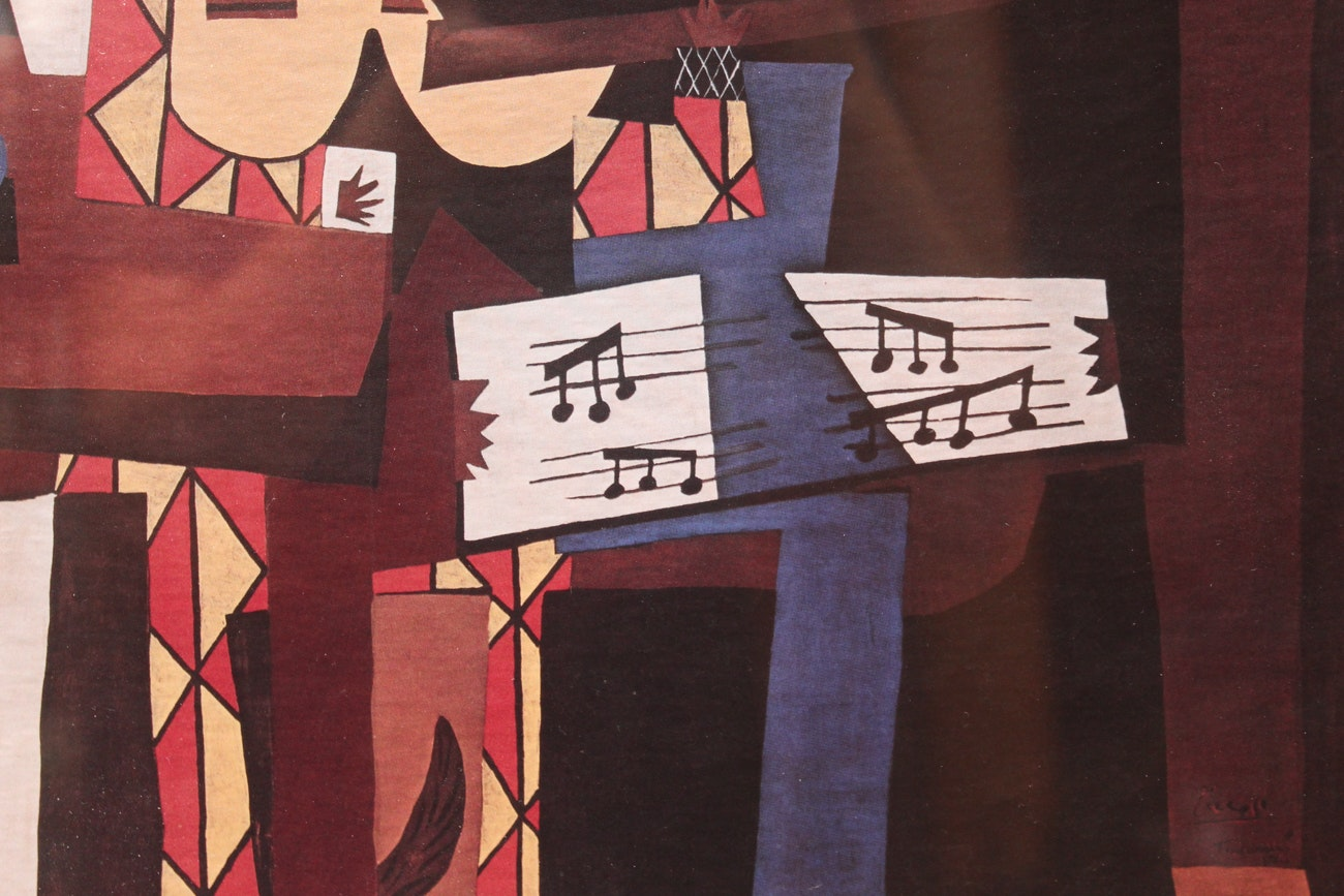 """Print After Pablo Picasso """"Three Musicians"""""""