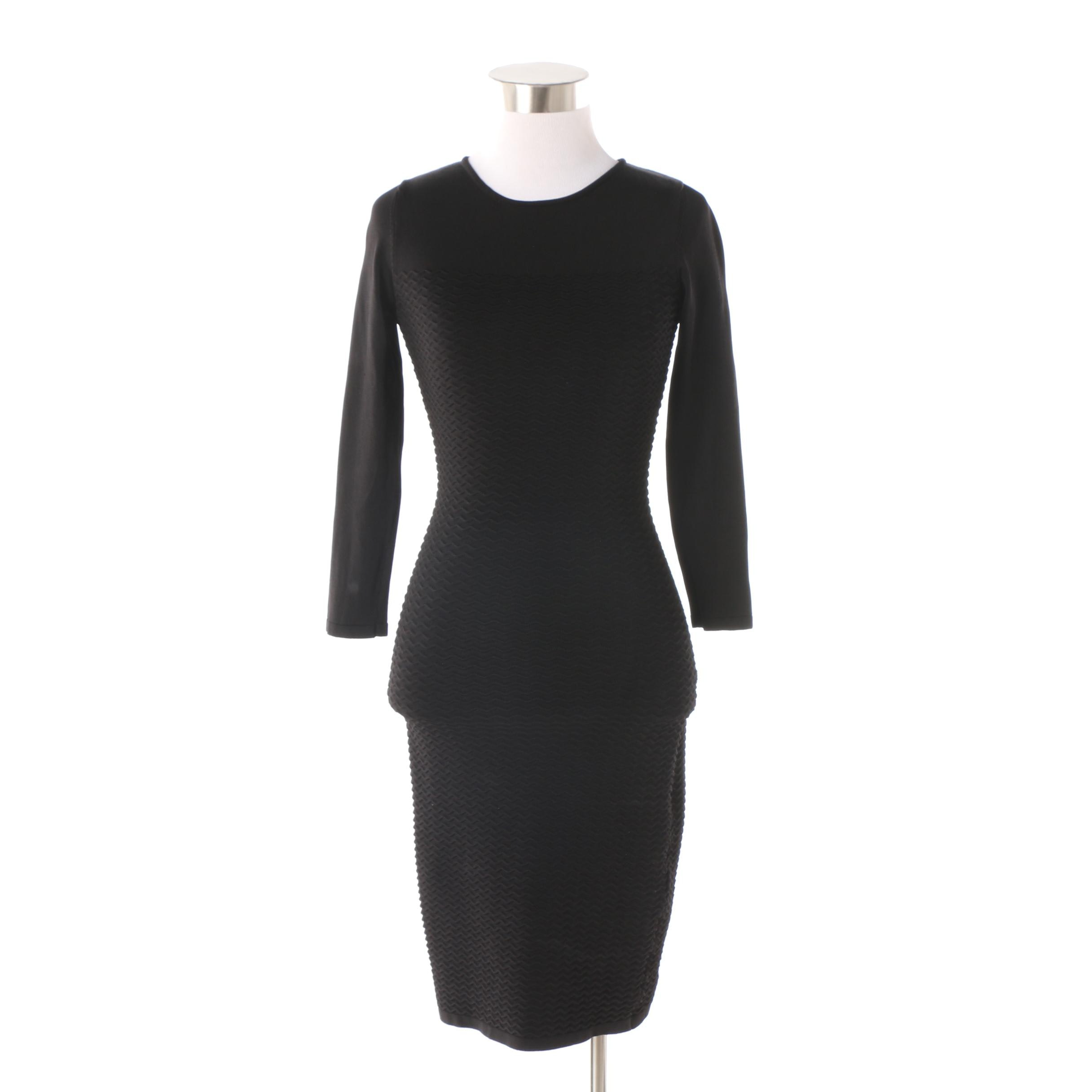 Cynthia Rowley Black Knit Bodycon Dress