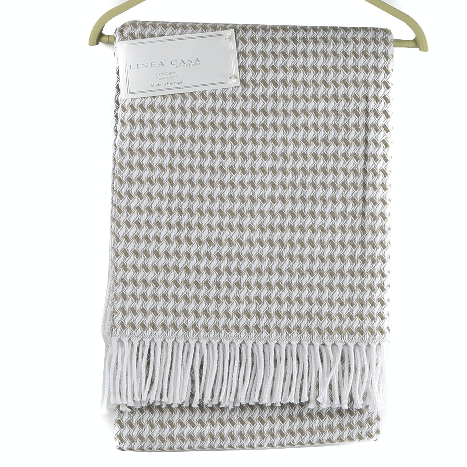 Linea Casa by Sferra All-Cotton Fringed Throw