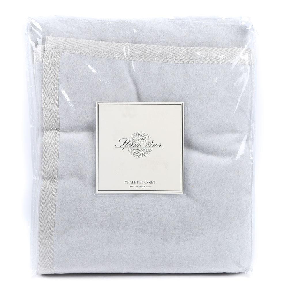 "Sferra Bros. Full/Queen Brushed Cotton ""Chalet"" Blanket"