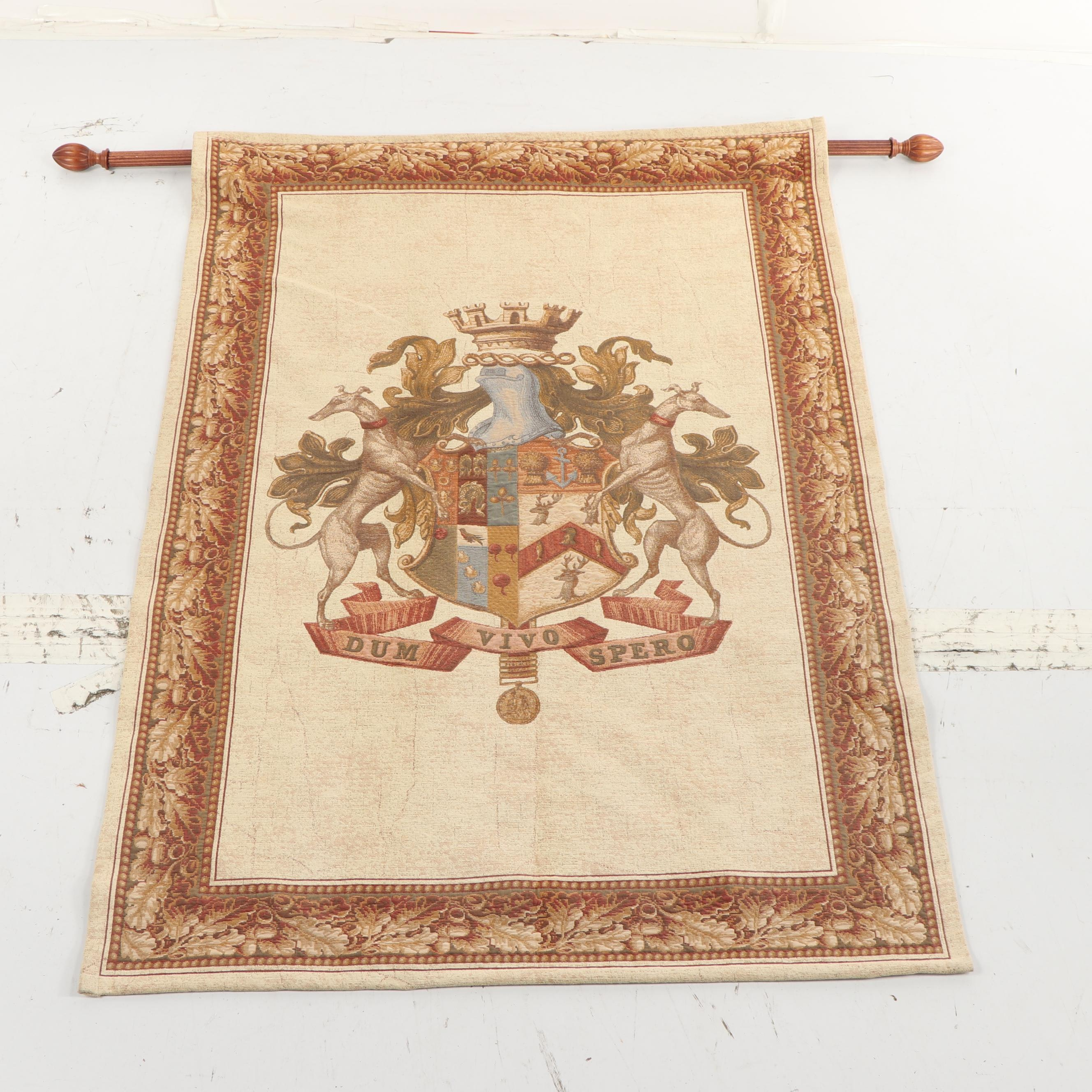 "Beldeco Collection Wall Hanging of Coat of Arms ""Dum Vivo Spero"""