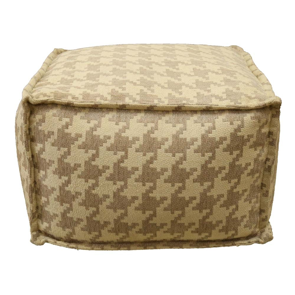 Contemporary Houndstooth Pouf