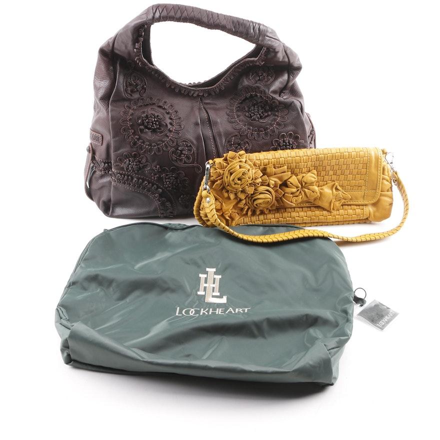 Lockheart Leather Hobo Handbag and Demi Top Handle Bag   EBTH 8f5000e04c318