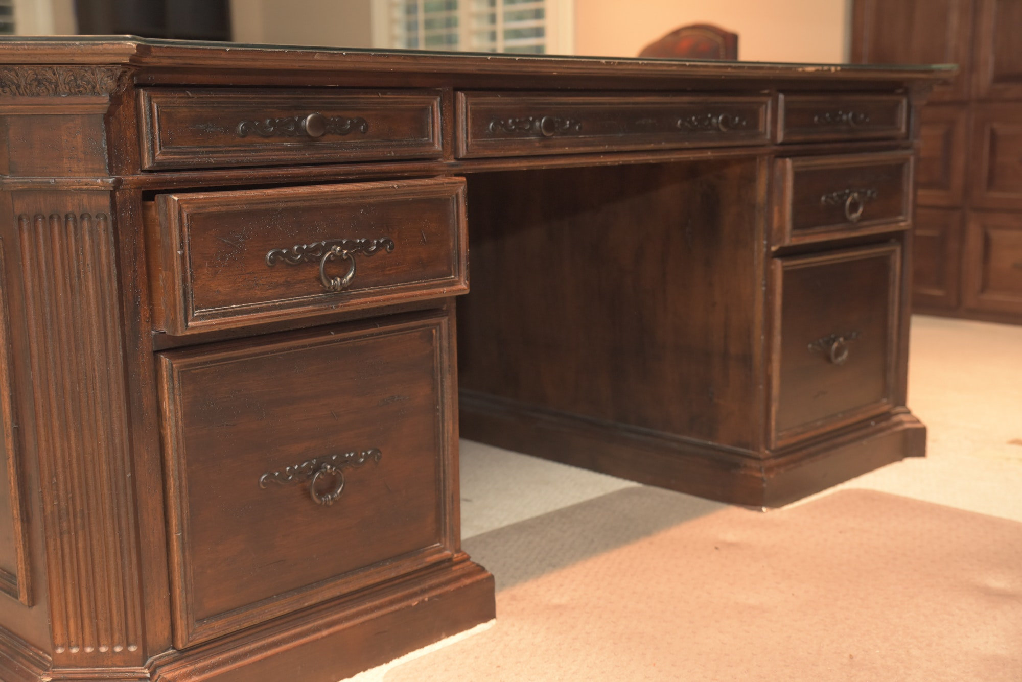 "Contemporary ""American Treasures"" Executive Desk by Habersham"