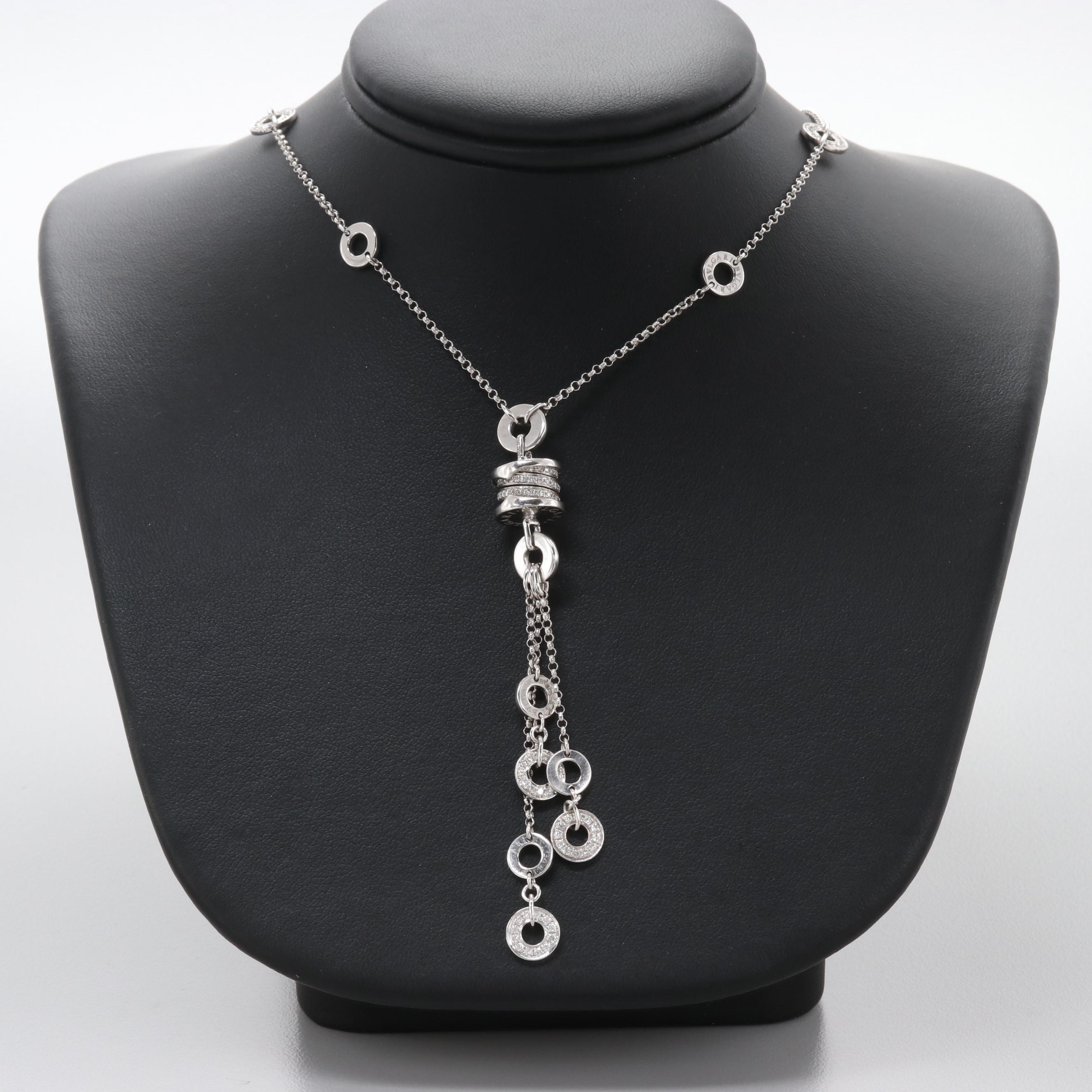 Bvlgari 18K White Gold 1.10 CTW Diamond Necklace