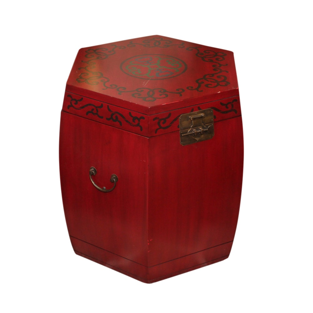 Red Chinese Style Trunk