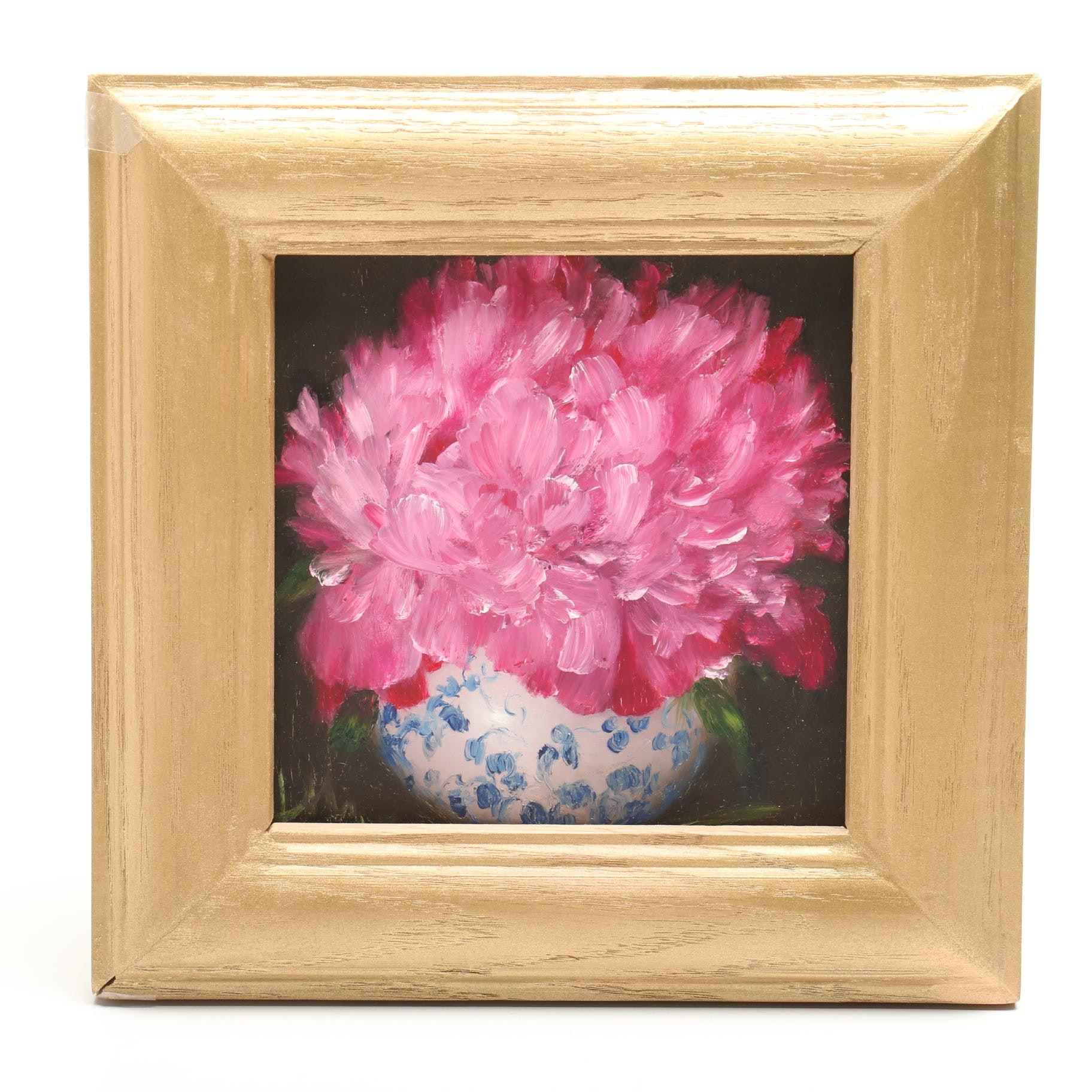 T. T. Tran Floral Still Life Oil Painting