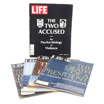 "1967 JFK Assassination ""Look"" and ""Life"" Magazines"