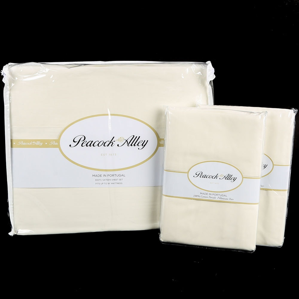 Peacock Alley Queen-Size Sateen Sheet Set and King Pillowcases