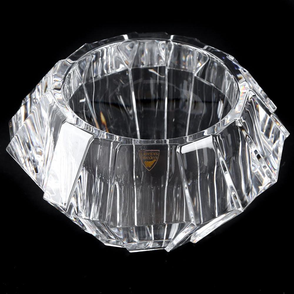 "Orrefors ""Sigma"" Crystal Bowl"
