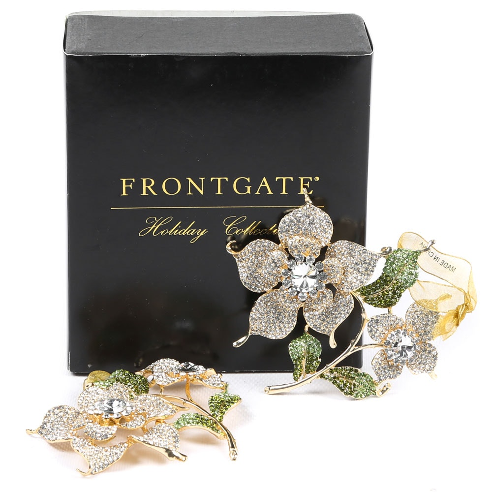 Frontgate Jeweled Flower Ornaments