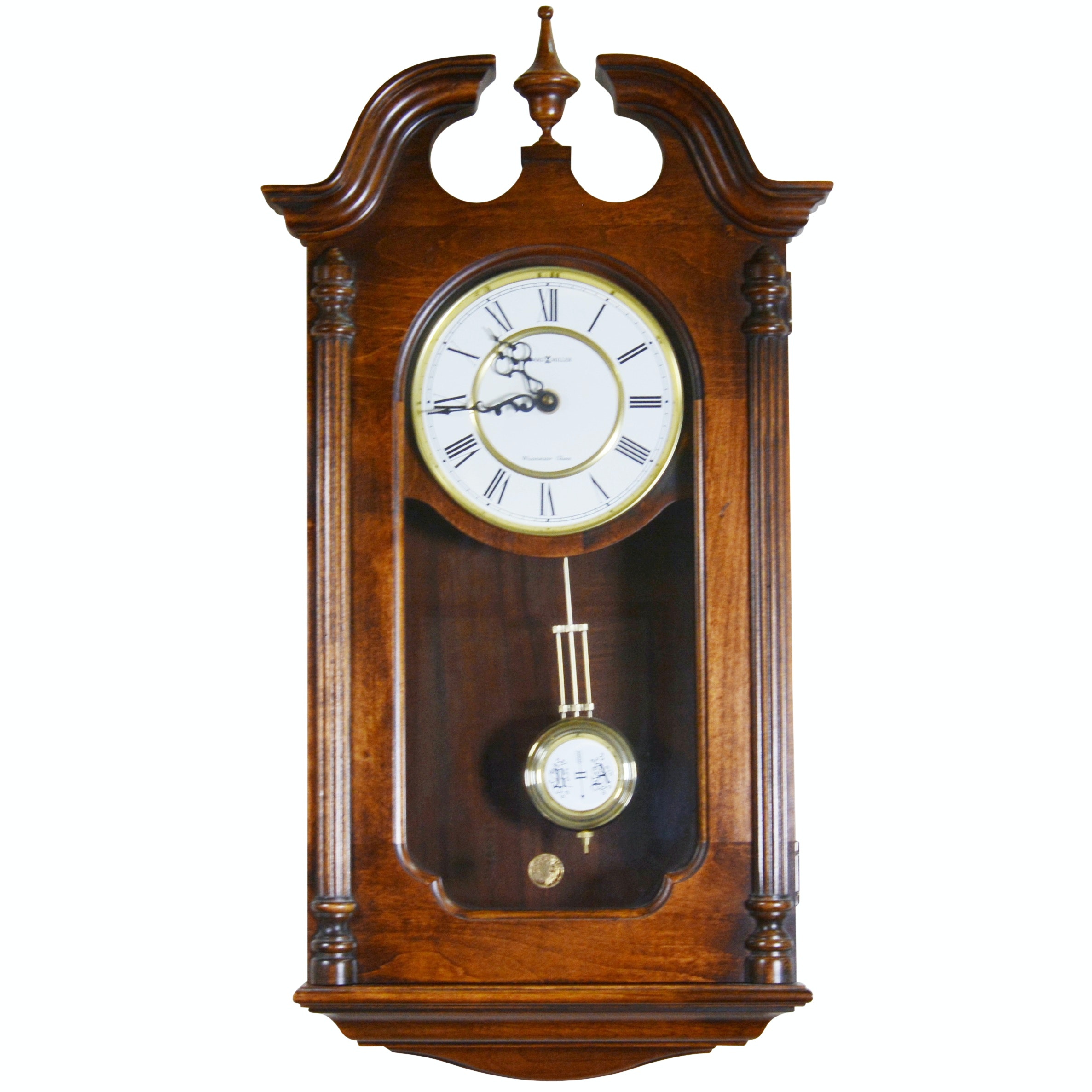 """Howard Miller Chippendale Style """"Westminster Chime"""" Wall Clock"""
