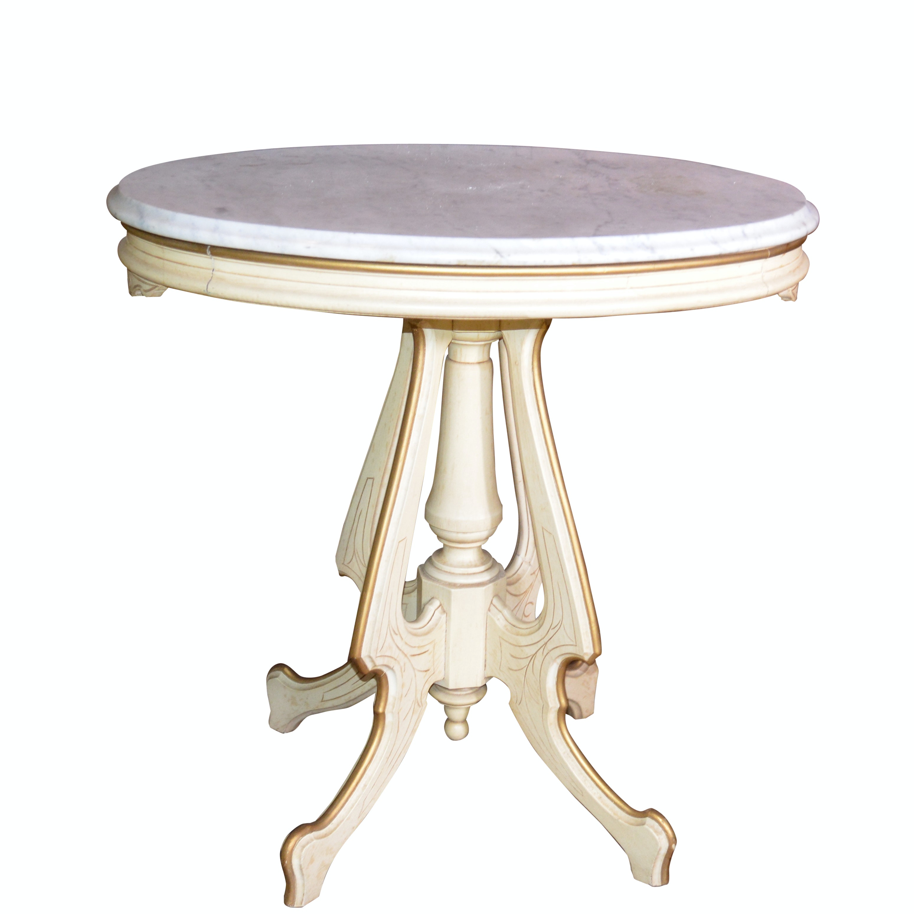Eastlake Style Painted Wood Lamp Table, 20th Century