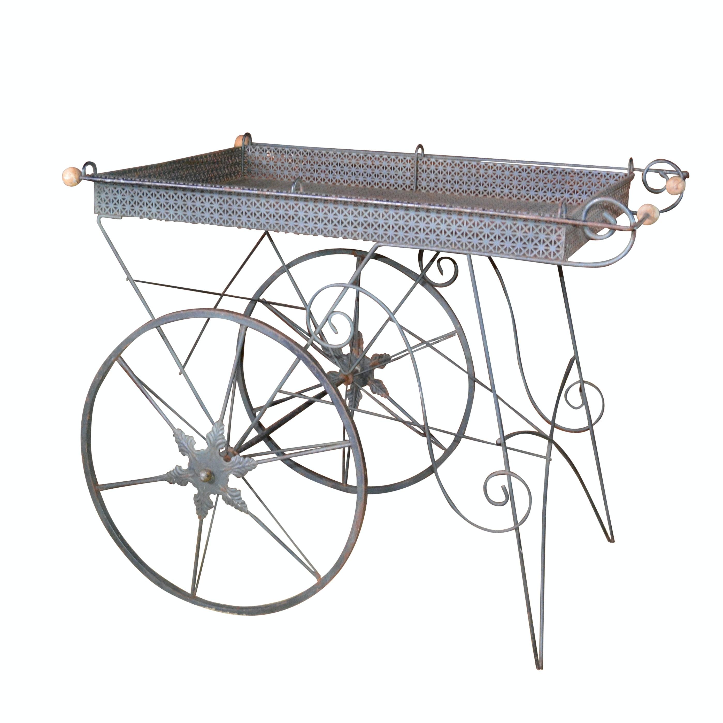 Metal Flower Cart