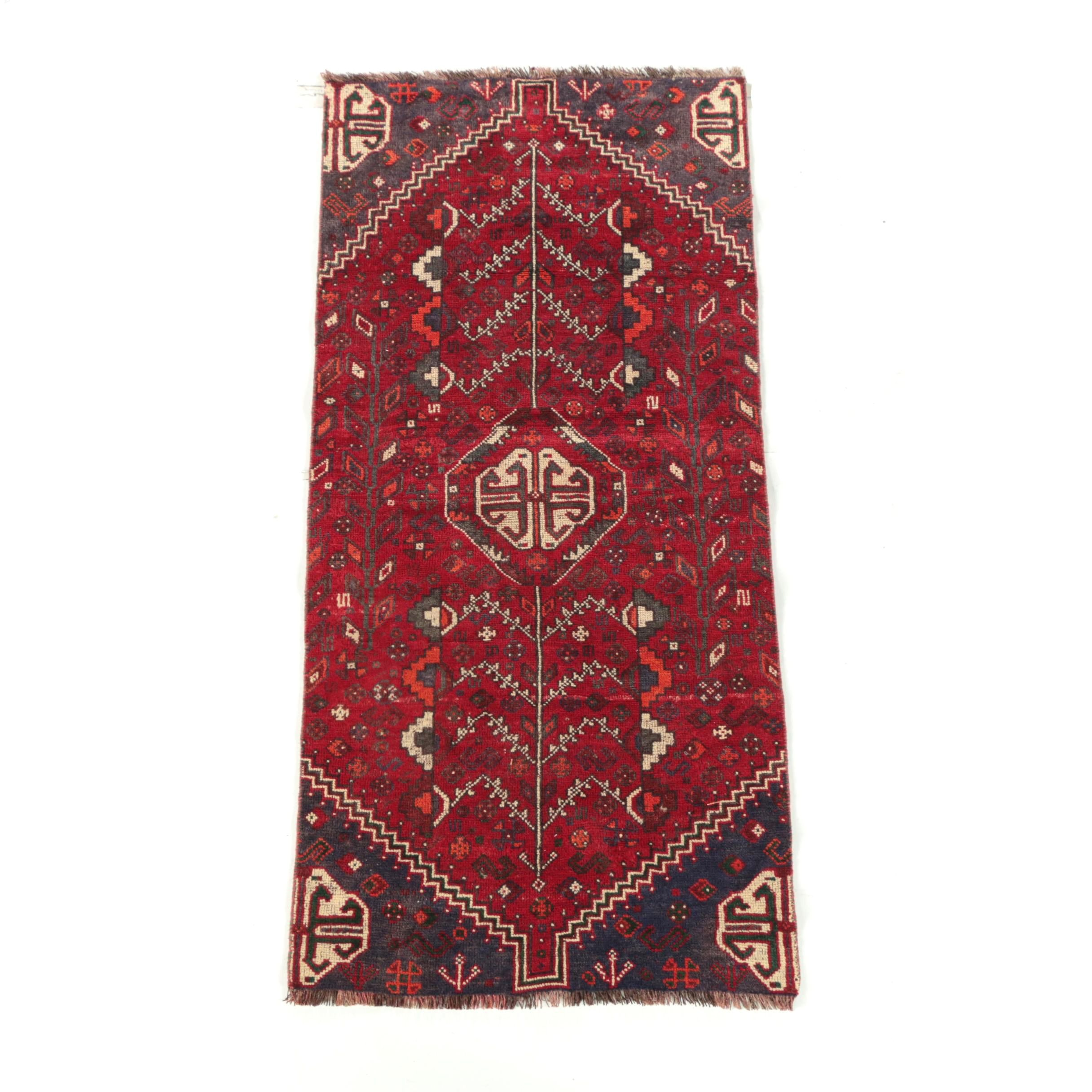 Hand-Knotted Persian Abadeh Wool Long Rug