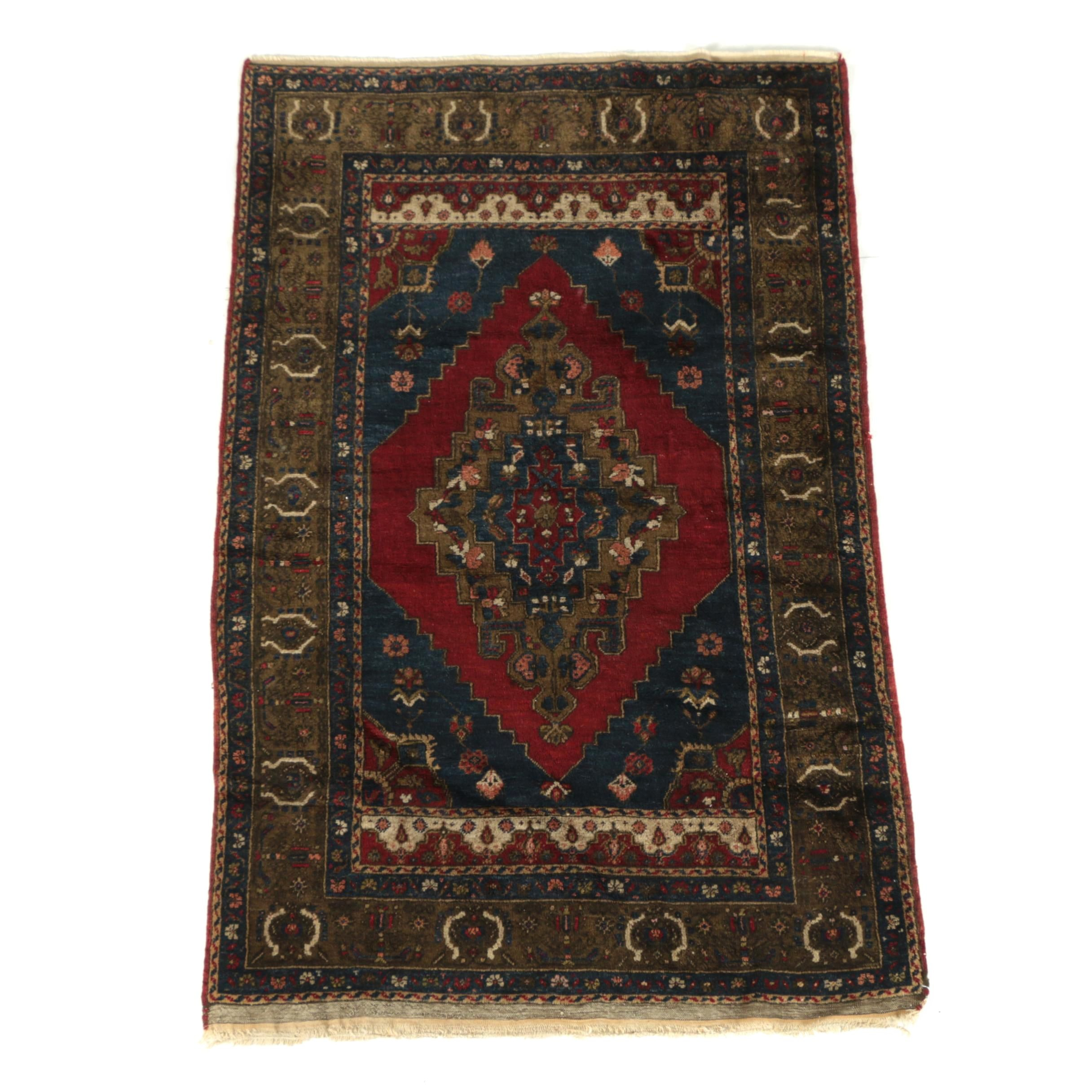 Hand-Knotted Turkish Taspinar Wool Rug