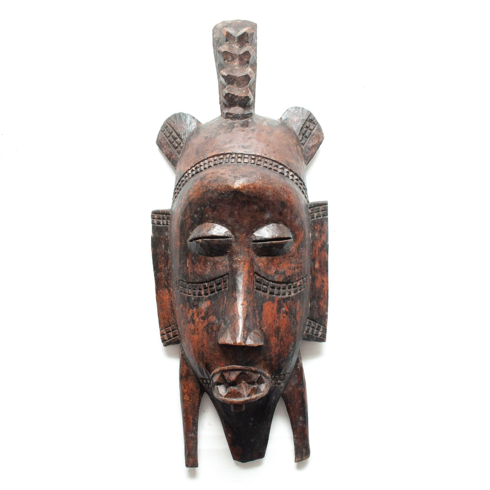Late 20th Century Wooden Senufo Kpelie Style Mask