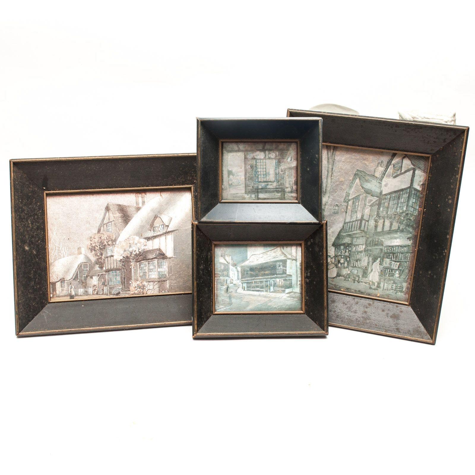 Vintage Metallic Relief Paintings