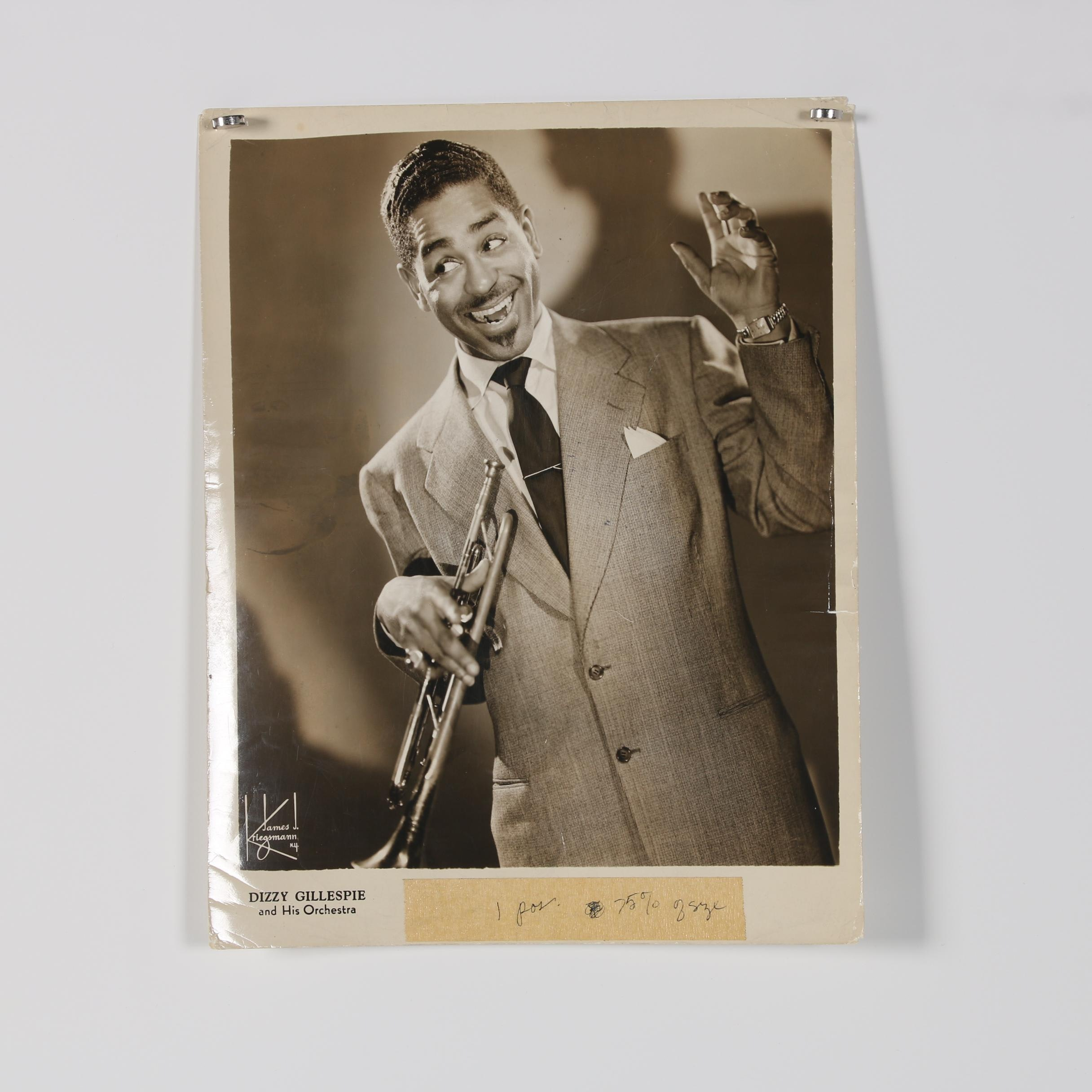 "Jack Bradley Silver Gelatin Photograph ""Dizzy Gillespie and His Orchestra"""