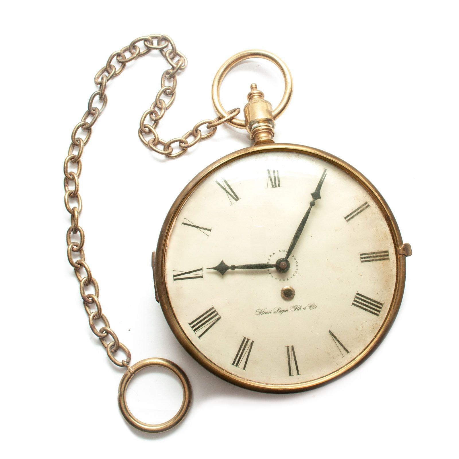 Hallmark Pocket Watch Style Wall Clock