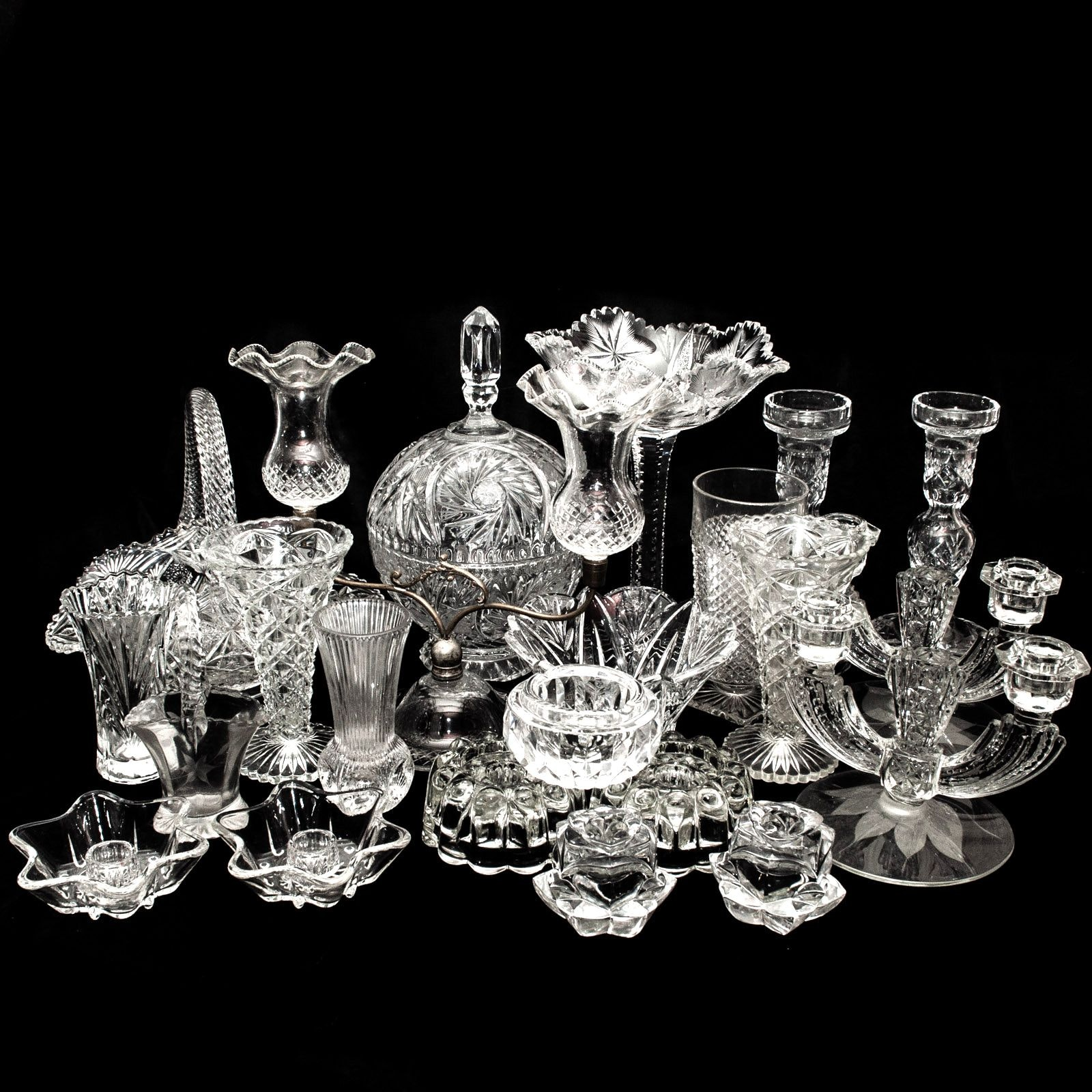 Crystal and Glass Vases, Candleholders, and Bowls Featuring Mikasa