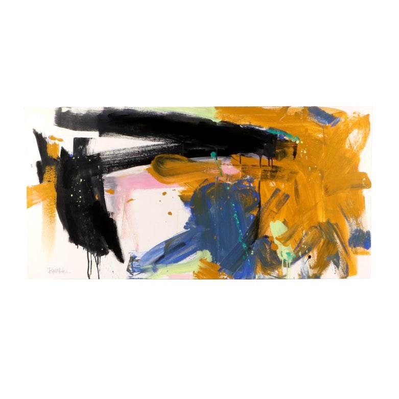 "Robbie Kemper Abstract Acrylic Painting ""Horizontal Ochre"""