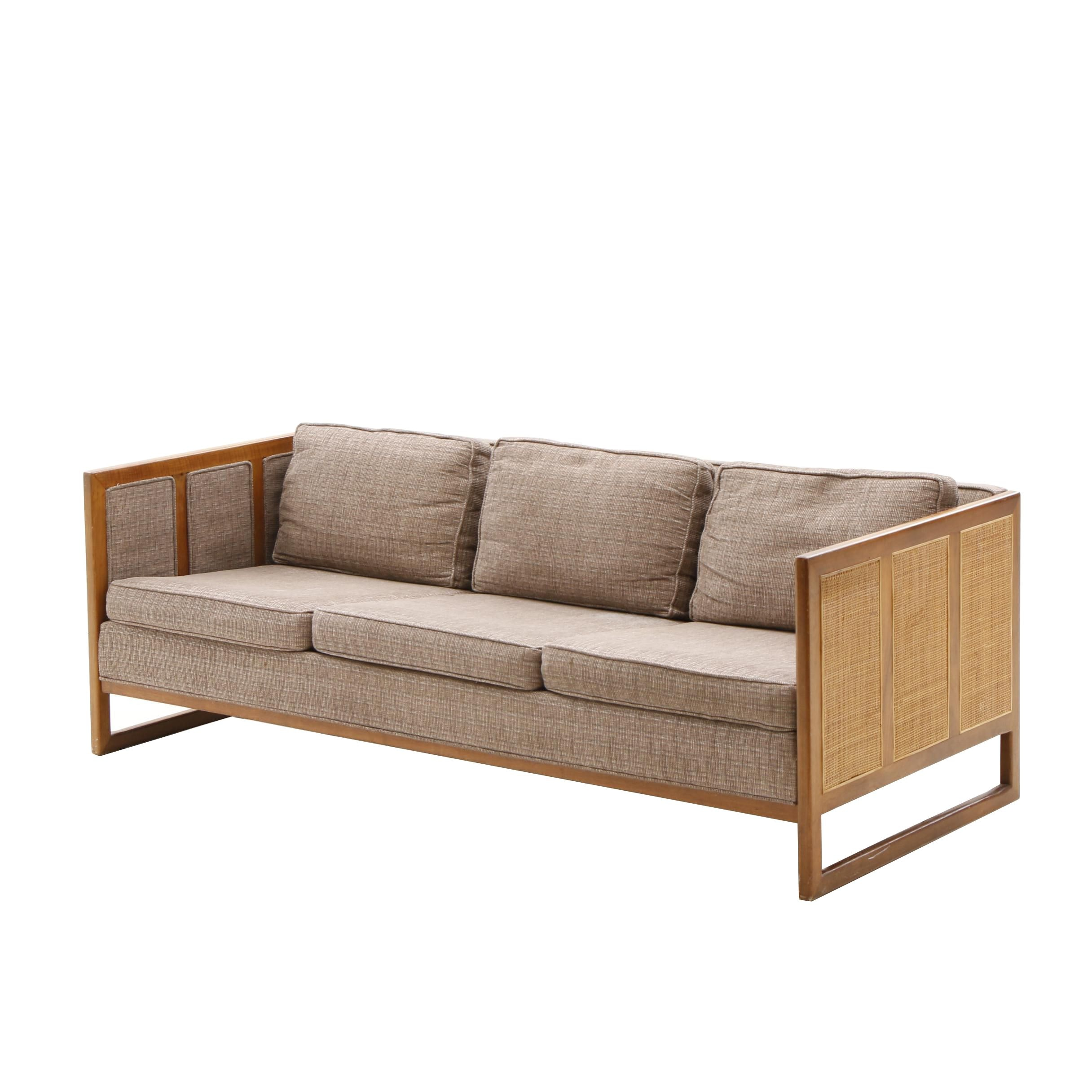 Mid Century Style Upholstered Sofa