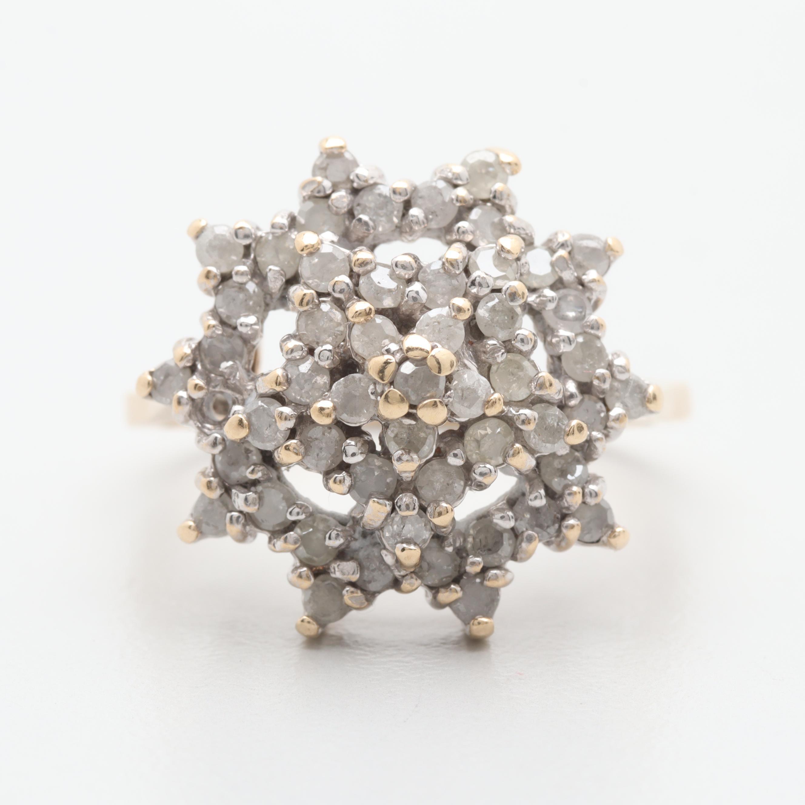 10K Yellow Gold 0.99 CTW Diamond Ring