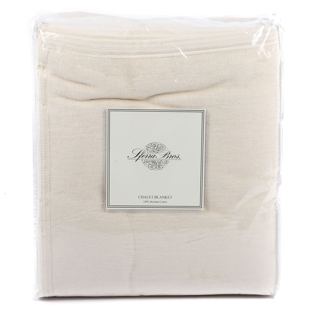 "Sferra Bros. Full/Queen Brushed Cotton ""Chalet"" Blanket"