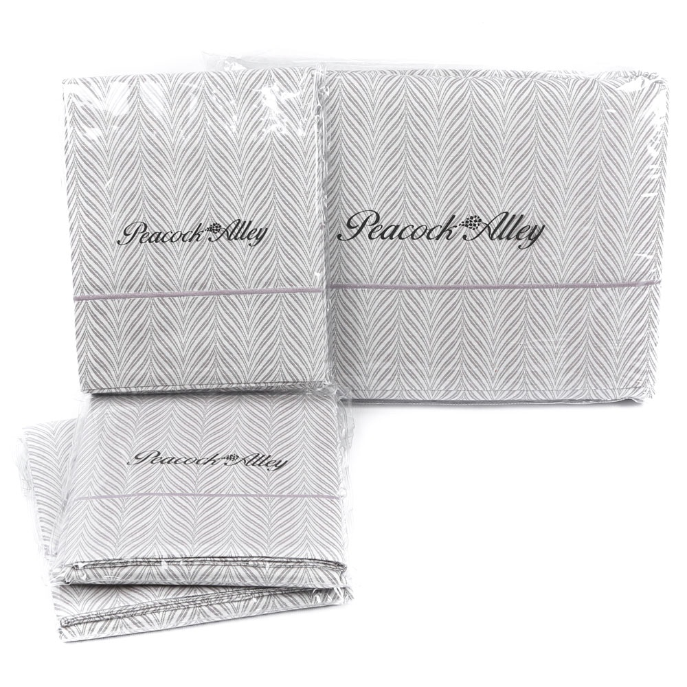Peacock Alley Queen-Size Duvet and Sham Bed Set