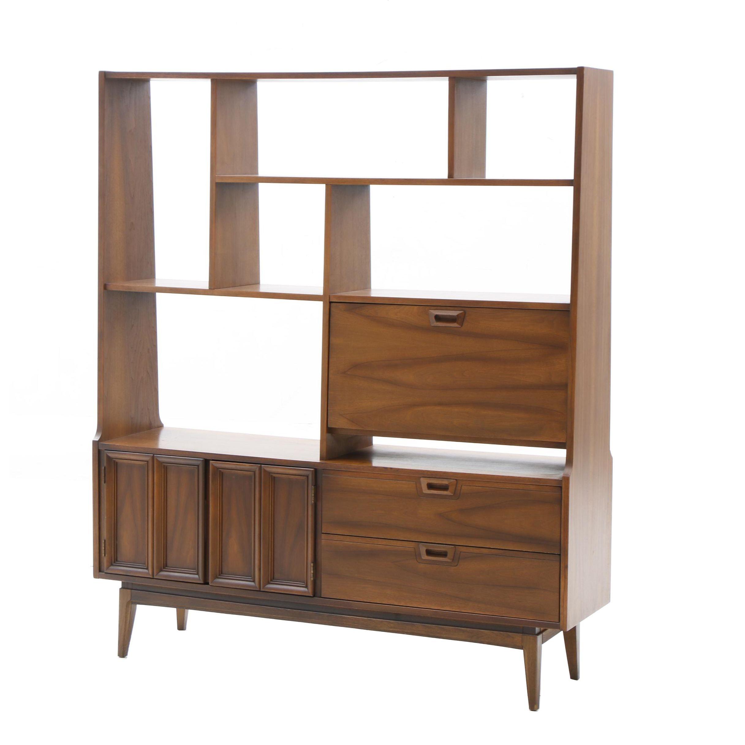 Mid Century Style Cabinet Bookcase