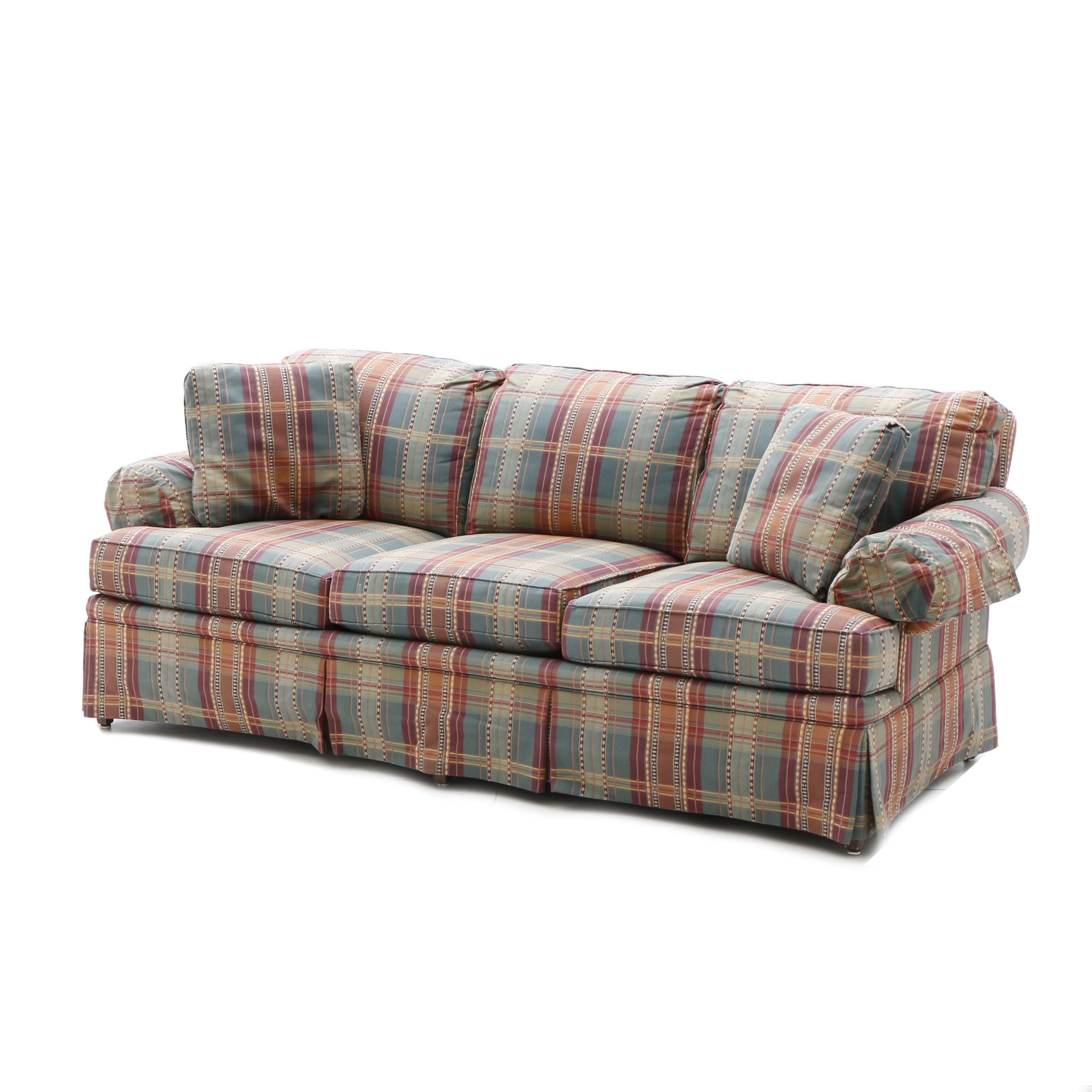 Plaid Upholstered Sofa by Drexel Heritage, 20th Century