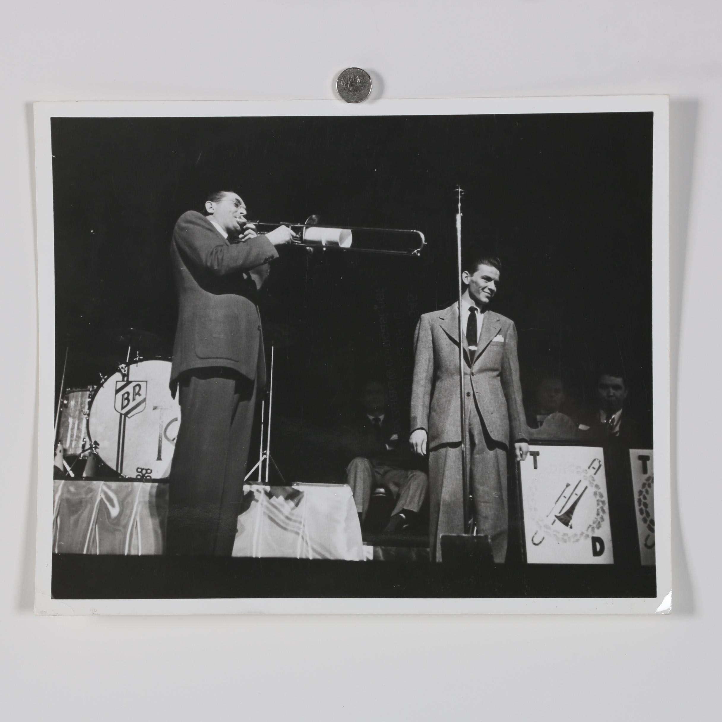 Jack Bradley Silver Gelatin Photograph of Tommy Dorsey with Frank Sinatra