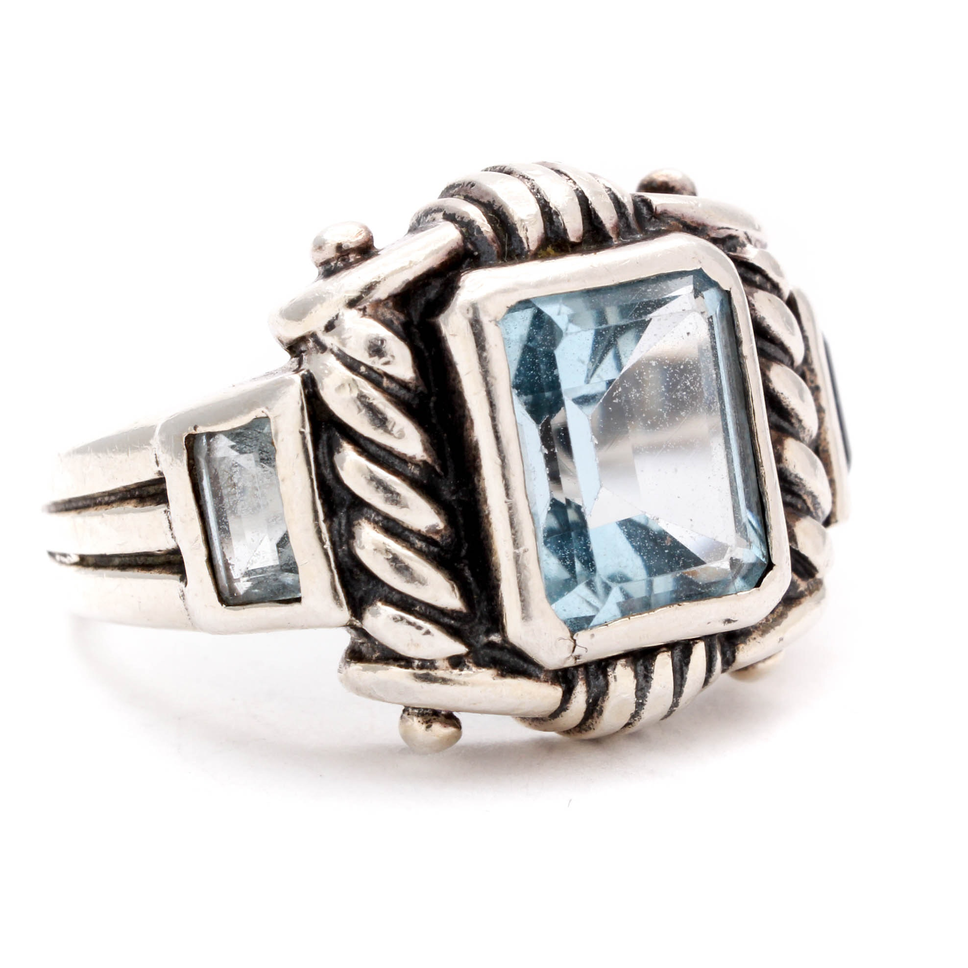 Sterling Silver and Blue Topaz Ring
