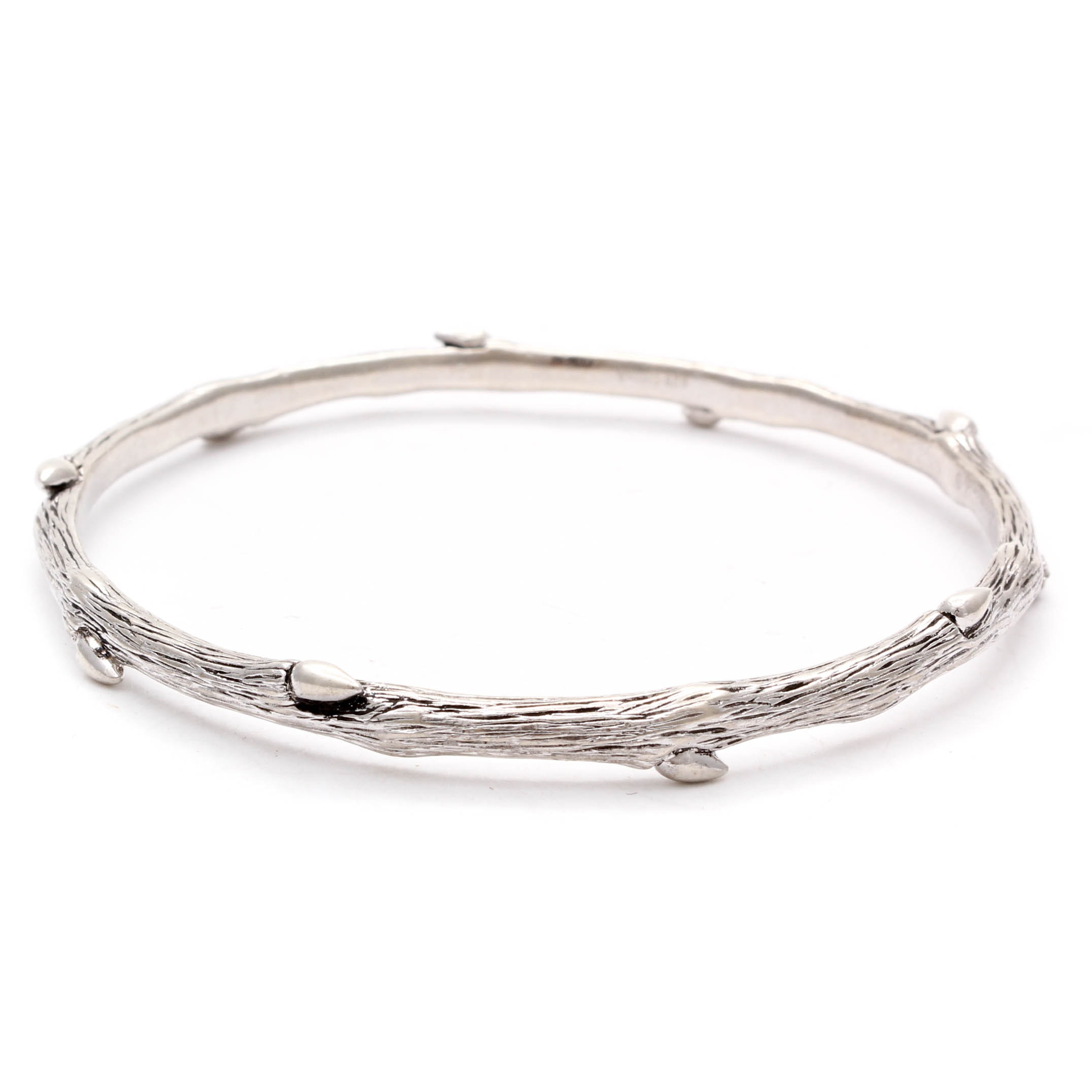 Silver Tone Costume Jewelry Bangle Bracelet