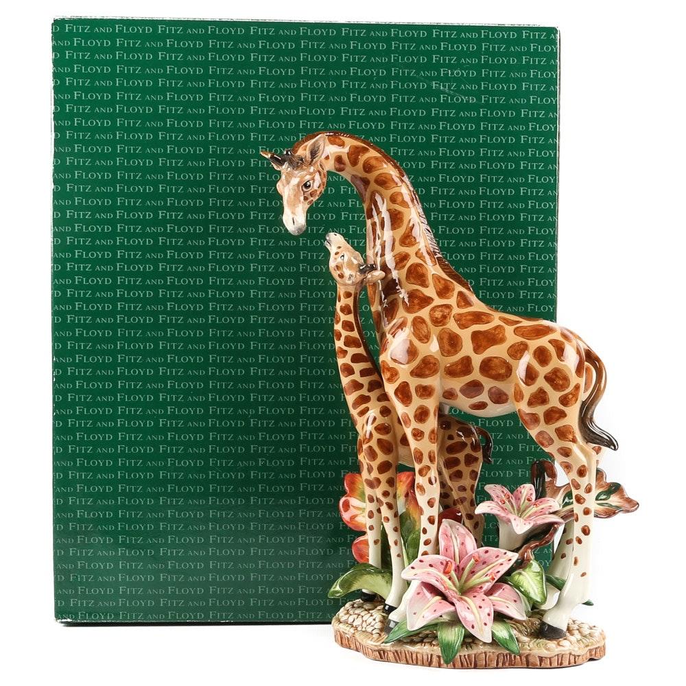 "Fitz and Floyd ""Exotic Jungle"" Giraffe Centerpiece Figurine"