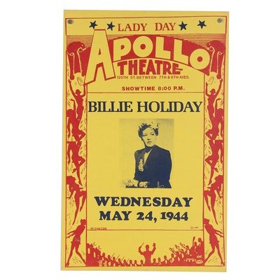 Billie Holiday Concert Poster at the Apollo Theatre